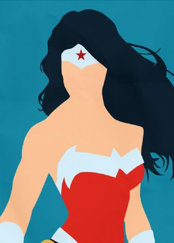 WONDER WOMAN - SIMPLISTIC canvas print - self adhesive poster - photo print